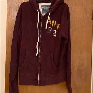 men's Abercrombie & Fitch zip hoodie